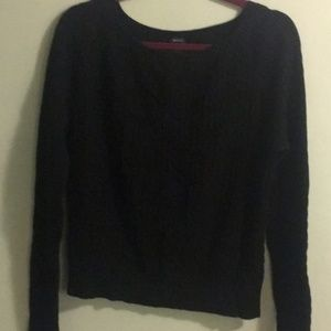 Gently Used GAP Black  Cableknit Sweater, Size XL